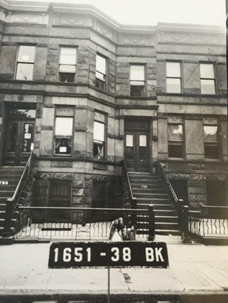 Our Brownstone in the 1930s